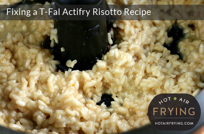Fixing a T-Fal Actifry Risotto Recipe: After 65 minutes.