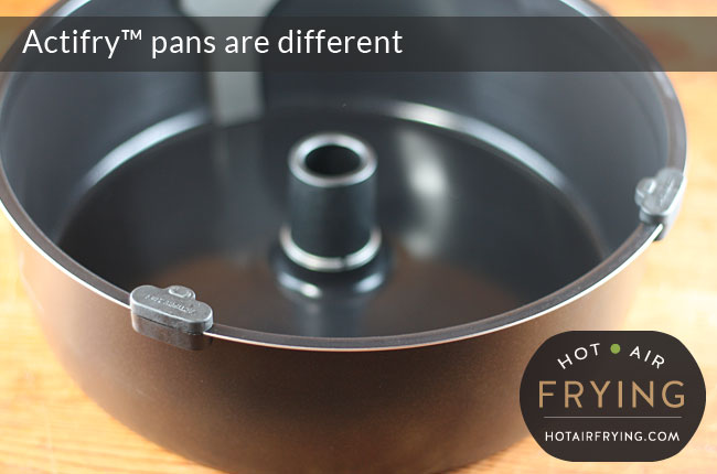 Actifry 2 in 1 pan with top supports