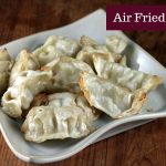 Air fried dumplings