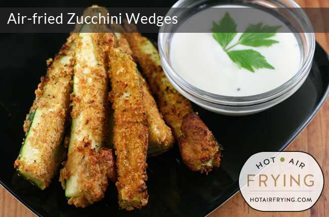 Air-fried Zucchini Wedges