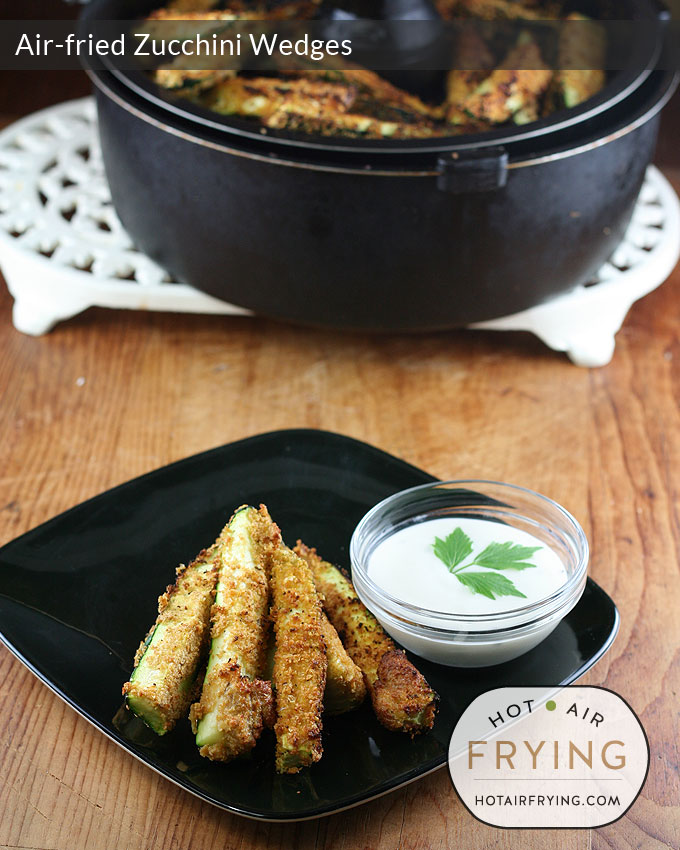 Air-fried-Zucchini-Wedges