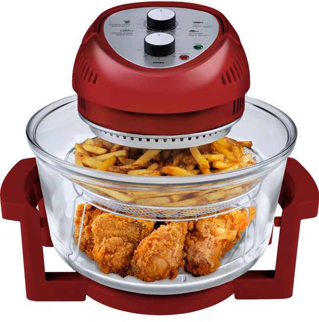 Big Boss Oil-Less Fryer (1300-watt / 16-Quart) Red