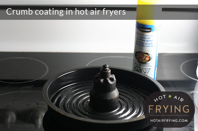 Crumb-coating-in-hot-air-fryers-