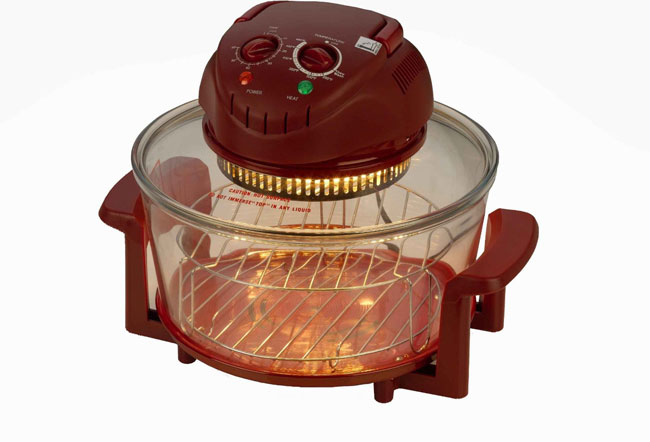 Fagor Halogen Tabletop Oven. Red
