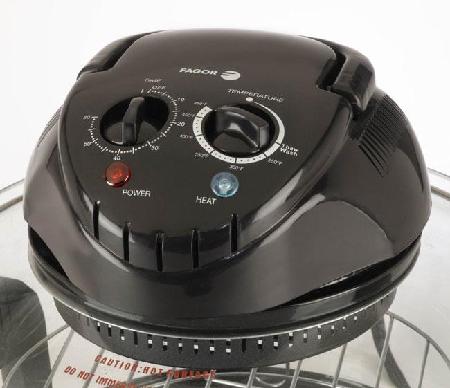 Fagor Halogen Tabletop Oven, controls