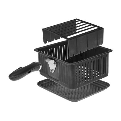 Kalorik Air Fryer showing basket drip plate, basket and rack