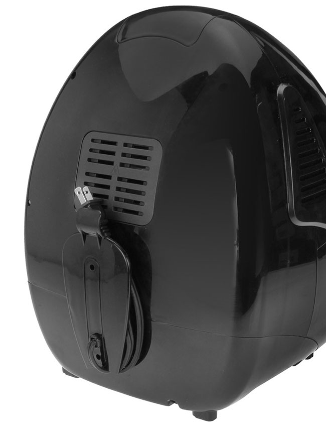 Kalorik Air Fryer back showing cord storage