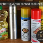 Oil sprayers: Canned or home spray bottle?