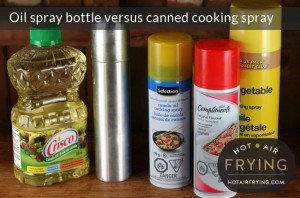 Oil spray bottle versus canned cooking spray
