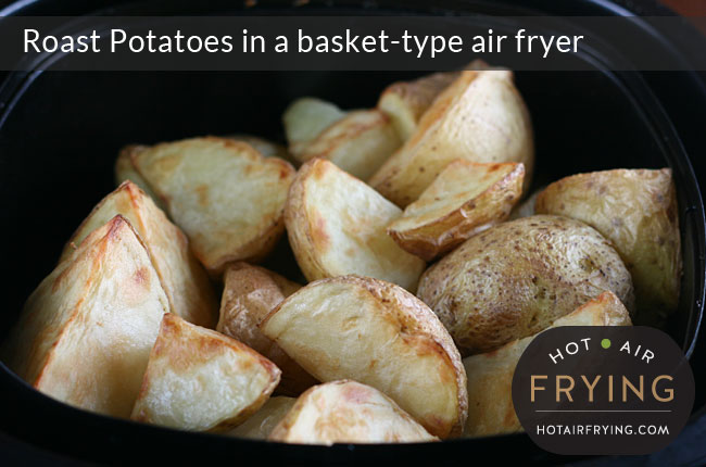 Roast-Potatoes-in-a-basket-type-air-fryer-after-27-mins