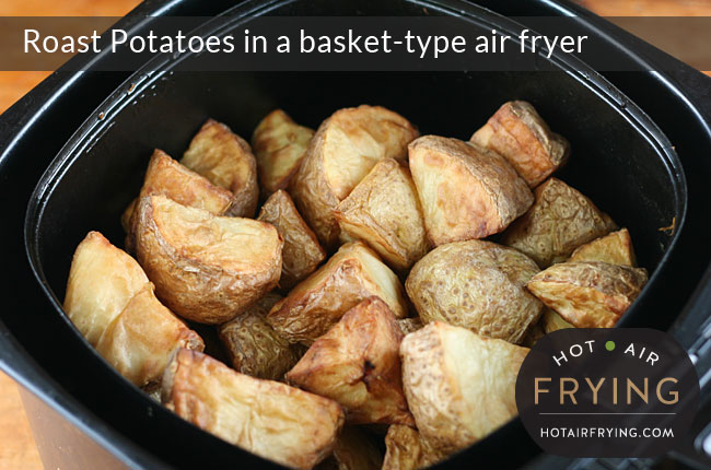 Roast-Potatoes-in-a-basket-type-air-fryer-after-34-mins