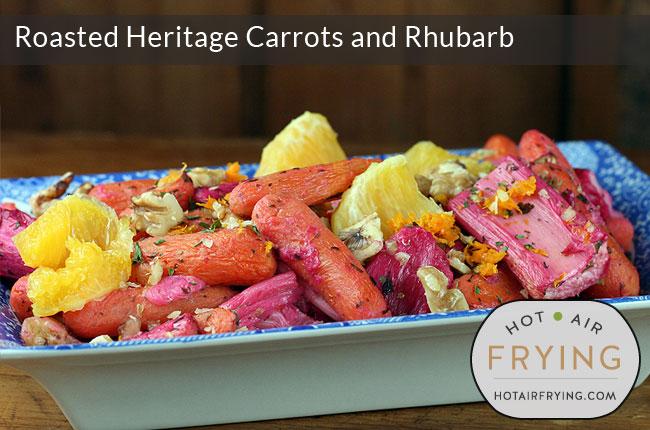 Roasted Heritage Carrots and Rhubarb