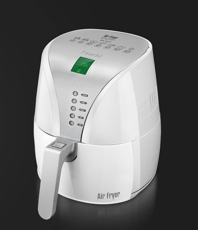 Saachi Air Fryer white, digital