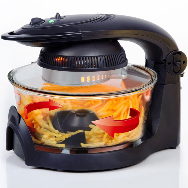 Secura Infrared Convection Countertop TurboFry Oven with turntable and paddle