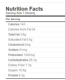 actifry pasta sauce nutrition