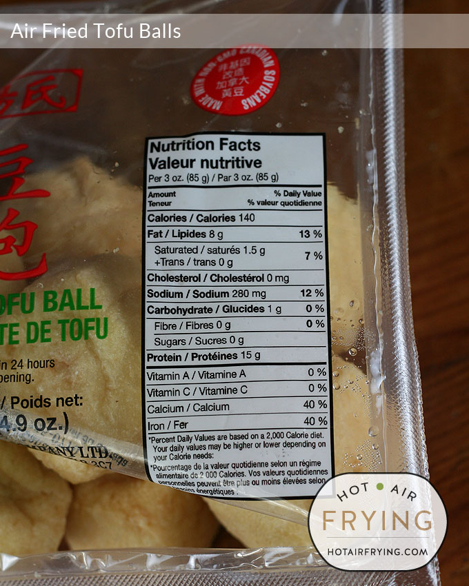 air-fried-tofu-balls nutrition