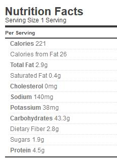 base risotto nutrition