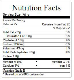 Crispy Actifry Tofu Nutrition