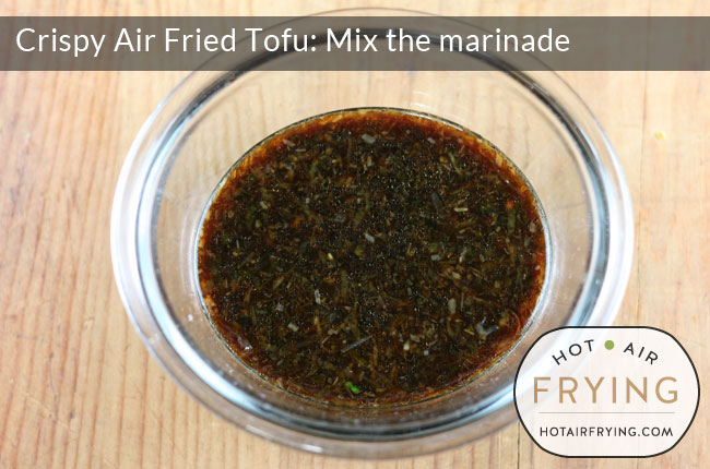 mix the tofu marinade