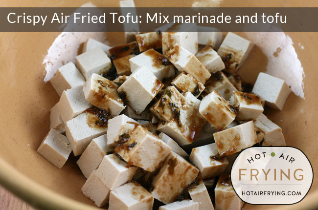 mix the marinade and tofu together