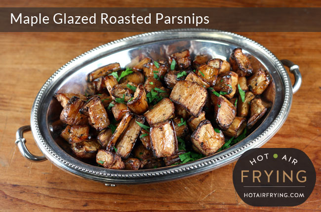 Maple Glazed Roasted Parsnips