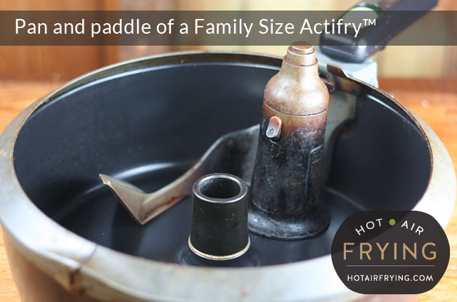 Pan and paddle of a Family Size Actifry