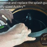 How to remove and replace the splash guard rim on a family-sized Actifry™