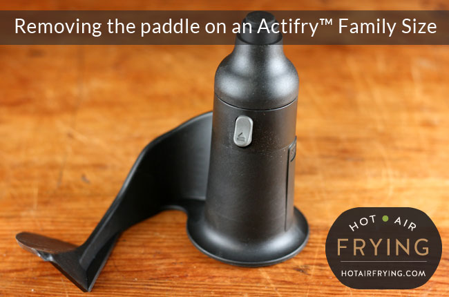 How to remove the paddle on an Actifry Family Size