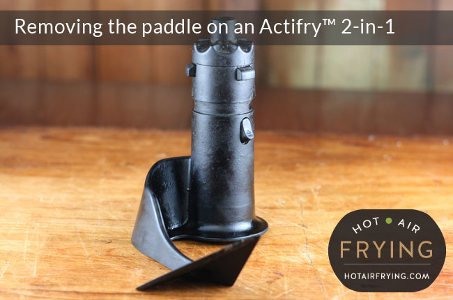 How to remove the paddle on an Actifry 2-in-1