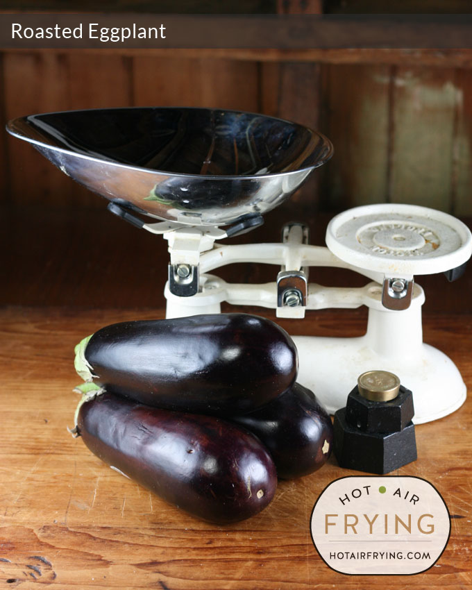 roasted-eggplant-weighing-the-eggplant