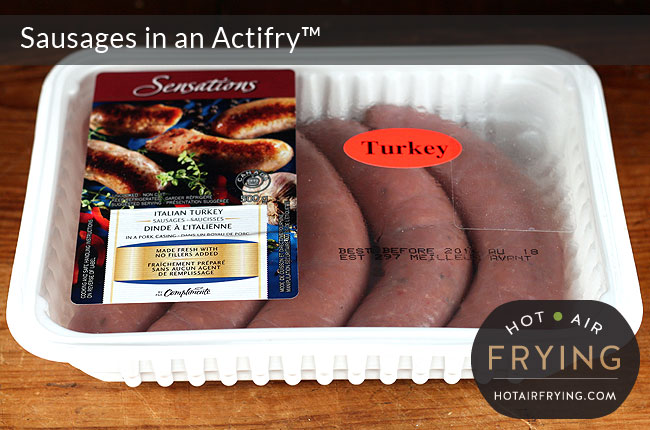 how to cook frozen sausages in actifry