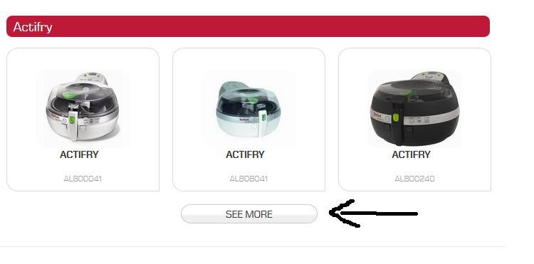Actifry UK Manuals Page
