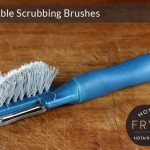 Get a vegetable scrubbing brush
